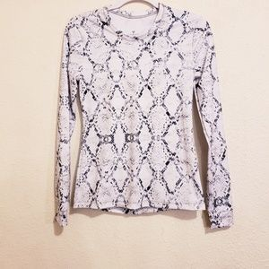 Varley Athletic Wear Long Sleeve Snake Print